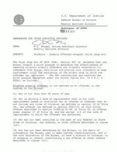March 2019 Elderly Offender Program Memorandum