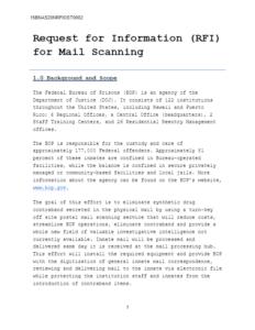 bop ditizing incoming prisoner mail